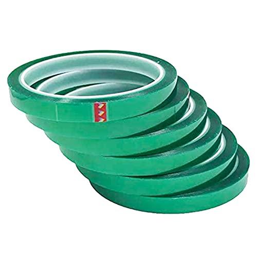 Los Eventos de la Tata. PACK 6 unidades de Cinta Térmica Adhesiva verde especial para sublimar, resistente a altas temperaturas |No Mancha