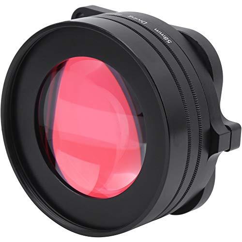 Bindpo Filtro de Color de cámara de acción de 58 mm, Rojo + Morado + 16x Macro 3 en 1 Juego de filtros de Lente de Buceo de Vidrio óptico para GoPro Hero 8