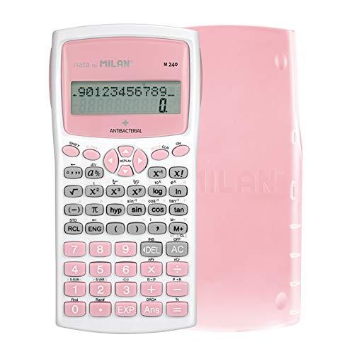 Blíster calculadora científica M240 Rosa, edición +