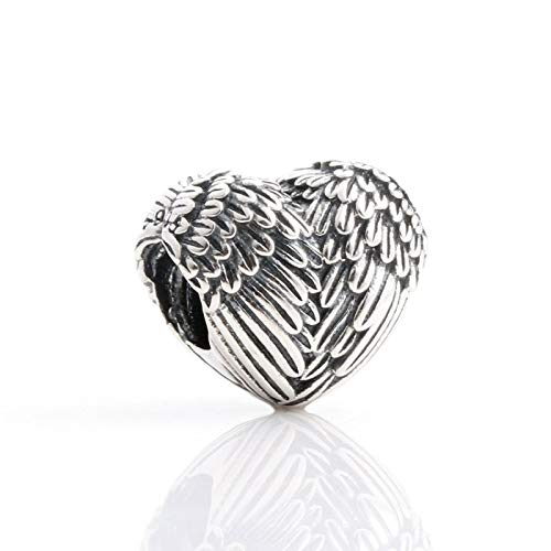 Pandora 925 plata esterlina DIY joyería Charmpandach alas de ángel colgantes encanto para pulseras mujeres s joyería cmc
