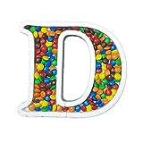 DecoPorex Letra D para Caramelos de 20Cm de Altura y 2Cm de Profundidad en poliestireno