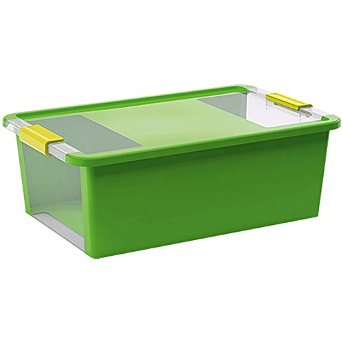 Kiss Kis Aufbewahrungsbox Bi Box 26 Liter in grün-transparent, Plastik, 55x35x19 cm