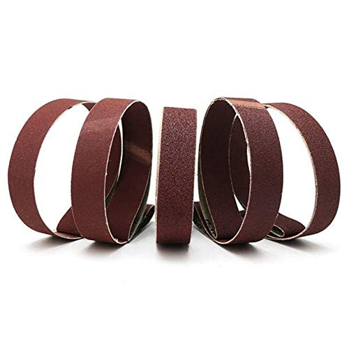 SIMNO JIAHONG Cinturón de Lijado de Abrasivos 5 x Ancho 80/100/150/240/320 óxido de Aluminio lijadoras de Banda de Lijado Grit Herramienta Cinturones 25mm Herramienta de molienda