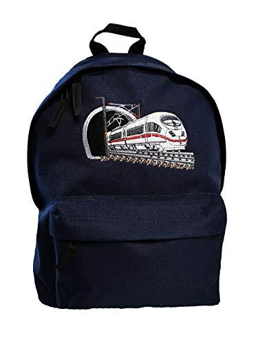 Junior Rucksack Zug Stickerei Eisenbahn Schnellzug Schulkinder Rucksäcke (dunkelblau)