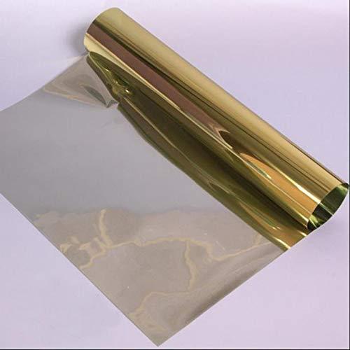 Piero Reflecterende spiegelisolatie Glasfolie Tint Zelfklevende privacy Glassticker Home Zonnebrandfolie, goud