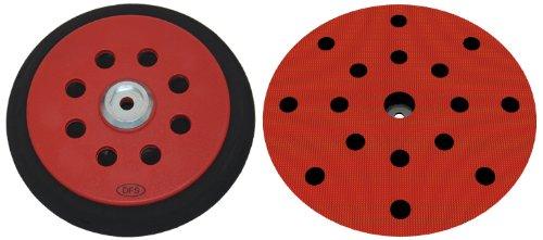 Plato lijador medio para Festool RO150 disco de lijado de VELCRO Ø 150mm - con 17-agujeros para la extracción de polvo - suave medio o duro - a su elección - DFS