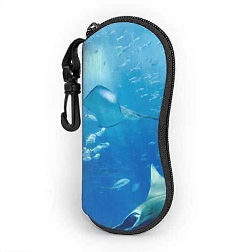 Gray Fish Unisex moda portátil gafas caso estudiante papelería caja bolsa de...