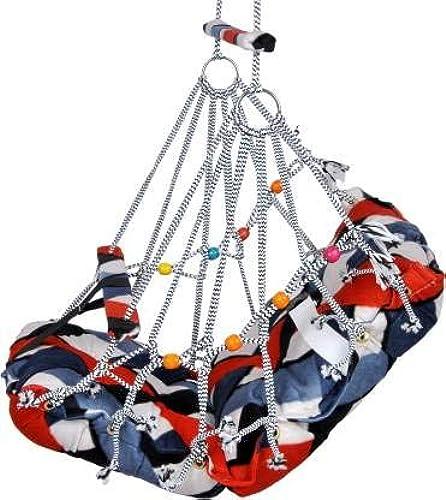 Medigo Cotton Swings Hanging Hammock Suitable for Indoor Outdoor Balcony Home Bedroom with Safety Belt