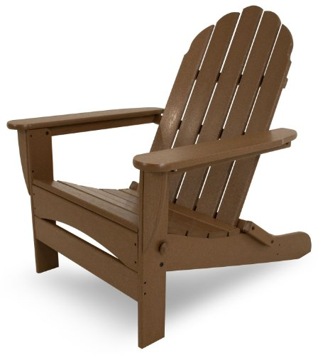 POLYWOOD AD7030TE Classic Oversized Curveback Adirondack Chair, Teak
