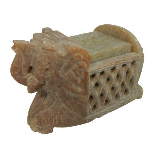 Räucherstäbchenhalter Speckstein Elefant 8x5x5cm Kerzenhalter Teelichthalter Wohnaccessoire Deko Raumduft