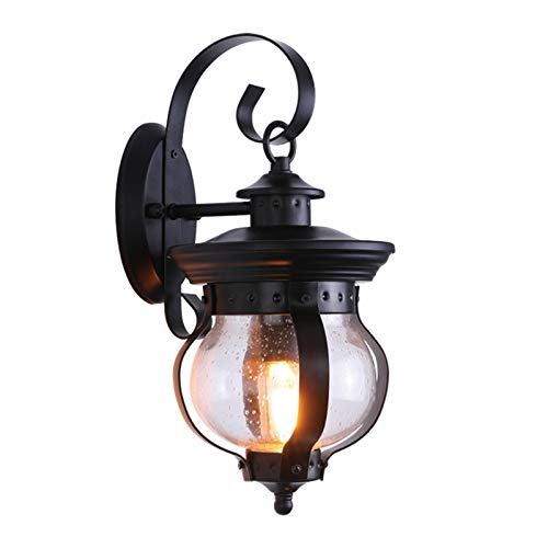 GYC Lámpara de Pared al Aire Libre de Estilo Europeo, lámpara de Patio de Villa de jardín, lámpara de Pared Retro Creativa de Puerta de Pared Impermeable para Exteriores