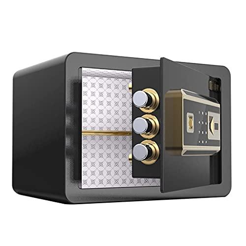 Cajas fuertes para gabinetes, cajas fuertes Caja de seguridad para el hogar Contraseña invisible Caja de seguro Antirrobo Huella digital Mini alarma Caja de seguridad Cajón de almacenamiento para mesi