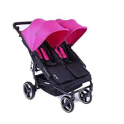 Baby Monsters Easy Twin-Silla de paseo gemelar fucsia