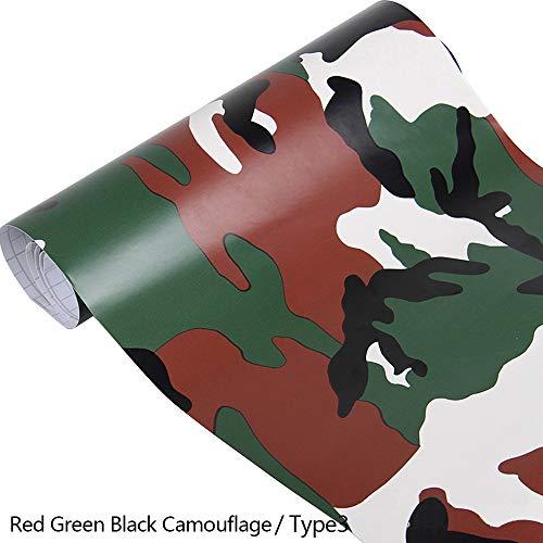 EBILUN PVC Film Hochglanz Camouflage Camo Car Wrap Rolle Aufkleber Aufkleber Blatt Typ 3 152x20cm