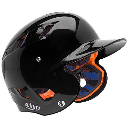 Schutt AiR 5.6 Softball Batting Helmet with Advanced D30 Padding, Black, Medium