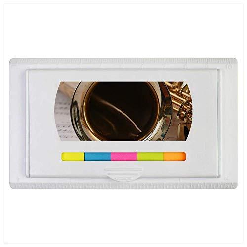 Azeeda 'Saxophone & Sheet Music' Sticky Note Ruler Pad (ST00000409)