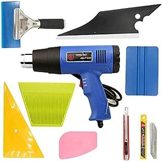 Syneticusa SUV/Truck/Car Window Tint Wrapping Vinyl Application Tools Squeegee Scraper Applicator Kits (8pcs kit+Heat Gun)