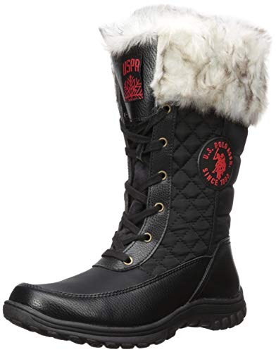 commercial US Polo Assn.  (Women's Fashion Merrick Boots, Black, Average 6.5 US snow boots polo