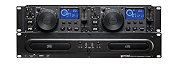 Gemini Sound CDX-2250i Dual Rack Mountable Professional Audio Pitch Control DJ Equipment Multimedia CD Media Player with Audio CD CD-R and MP3 Compatible with USB Input