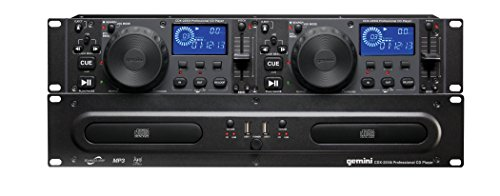 Gemini Sound CDX-2250i Dual Rack Mountable Professional Audio Pitch Control DJ Equipment Multimedia CD Media Player with Audio CD, CD-R, and MP3 Compatible with USB Input
