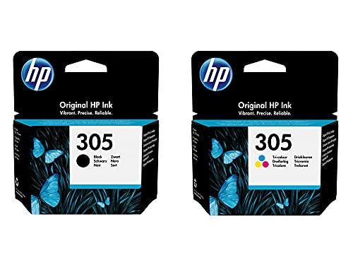 HP 305 - Cartucho de tinta para impresoras HP (100 hojas, A4, 80 g), color negro