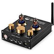 Douk Audio Préamplificateurs Hifi à tubes - Bluetooth 5.0 aptX - Sortie USB, DAC - Amplificateur de casque