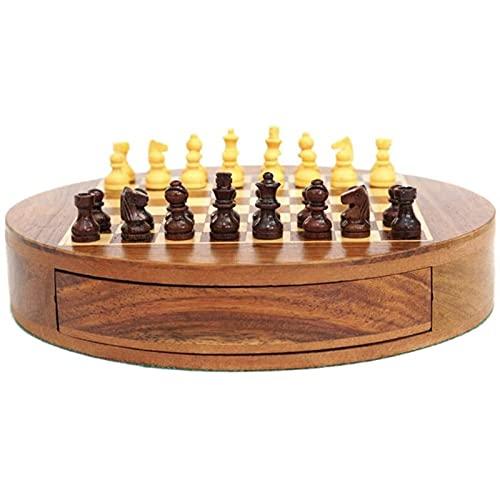 RUIXINLI Conjunto de ajedrez Conjunto de ajedrez de Viaje estándar de Madera ajedrez de ajedrez de ajedrez. para Sala de Estar, Campo, Oficina.