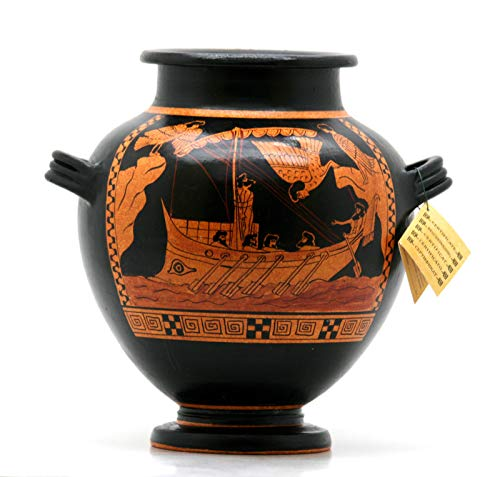 Odysseus & Sirens Stamnos - Jarrón de cerámica griego