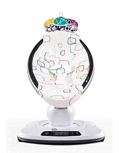 4moms mamaRoo 4 Multicolor Pluche | Balancelle Bébé électrique qui bouge comme vous | 5 mouvements et 4 sons de la nature | Bluetooth et MP3 | Arche de jeu