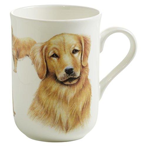 Maxwell & Williams Pets Golden Retriever Hund, Geschenkbox, Porzellan, PB0702 Becher, braun, weiß, 10.5 x 7.5 x 10.5 cm