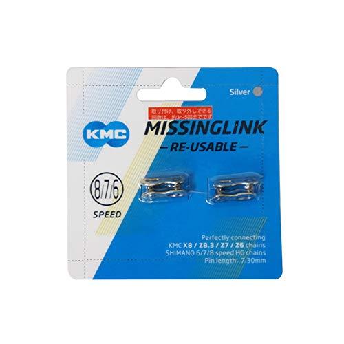 ケイエムシー(KMC) CL573R 6SPEED/7SPEED/8SPEED用ミッシングリンク SILVER 2ペア1セット KMC-CL573RNP2N