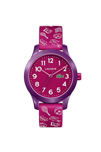 Lacoste Kids' TR90 Quartz Watch with Rubber Strap, Pink, 14 (Model: 2030012)