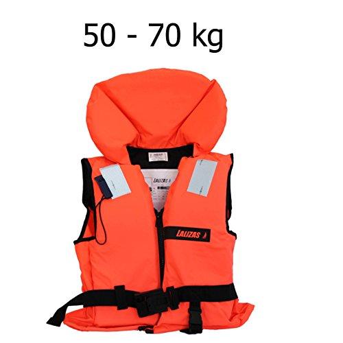 Lalizas Schwimmweste Rettungsweste 50-70 kg ISO 12402-4 Zertifiziert