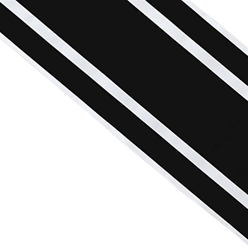 Pegatina LINEAS Racing Vinilo Adhesivo Sticker TUNNING Film para Coche Negro