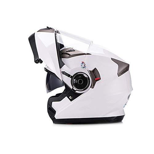 ZHEN Adult MotorcycleHelmet Modularer Integralhelm Klappbarer Doppelvisier-Persönlichkeitsrad Four Seasons Motorradrennhelm DOT/ECE-Zulassung