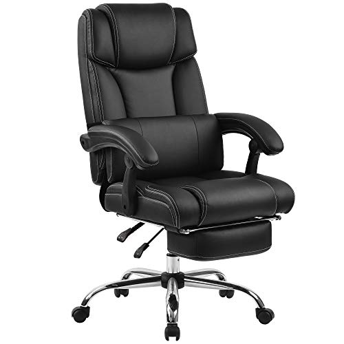Merax Portland Technical Leather Big & Tall Executive Recliner Napping - Black