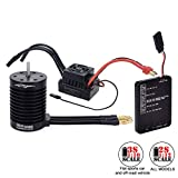 Brushless Motor and Esc, F540 4370KV Waterproof Brushless Motor+ 60A ESC+ Program Card Combo, For Most 1/12 and 1/10 RC Car, ESC Has Enhanced Throttle Response, Multiple Protection, 4 Poles With 12 Sl
