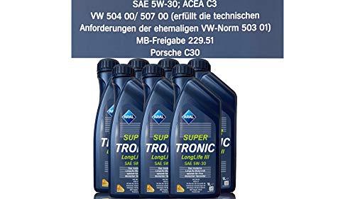 ARAL SuperTronic Longlife III 5W-30 7x1 Liter Super Tronic Motor-Öl Motoren-Öl