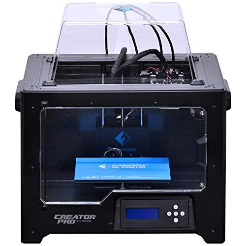 FlashForge 10745 Stampante 3D Creator Pro Stampante Doppio Estrusore a Ottimizzato Piastra Costruire e Aggiornata Holder Spool