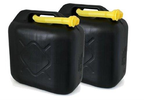 AD Tuning Kunststoff Kanister, 2er Set, Volumen: je 20 Liter (Lieferung ohne Inhalt). Inkl. Ausgieser - Schnorchel.