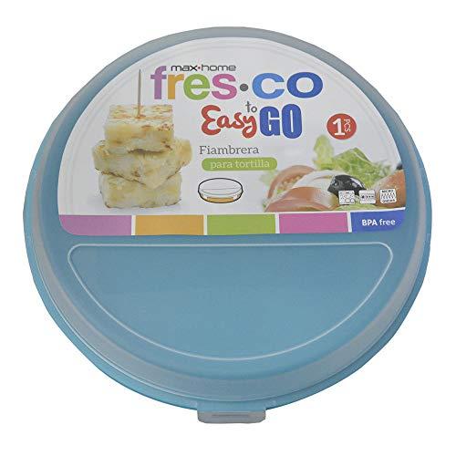 Portatortillas Circular de 24 cm para ensaladas/Tortillas. Diseño Colorido - Hogar y más - A