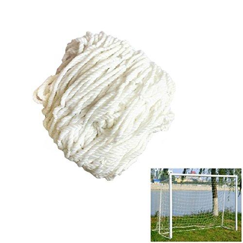 Smart Fun Fußballtornetz Ersatznetz für Sports Fußball Fußballtor Tornetz Netz, 1,8m x 1.2m, 3 Größe (1,8m x 1,2m, 3,6m x 1.8m, 7,3m x 2,4m) Weiß
