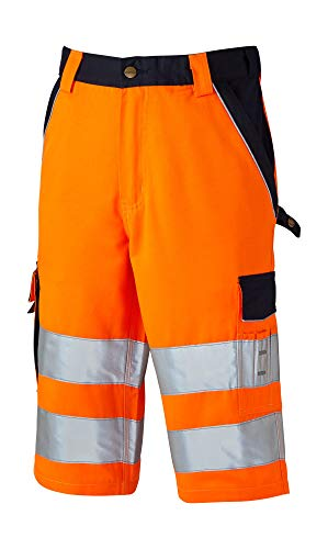 Dickies Kurze Warnschutzhose, Größe:56, Farbe:orange