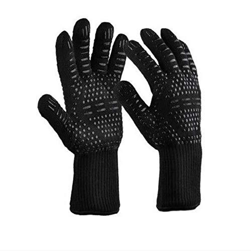 Hitzebeständige Handschuhe Grillhandschuhe Isolierte Handschuhe Ofenhandschuhe hitzebeständige rutschfeste hitzebeständige 500/800 Grad Ofenhandschuhe Silikonhandschuhe.