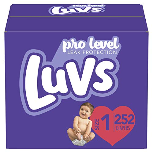 Diapers Newborn/Size 1 (8-14 lb), 252 Count - Luvs Ultra Leakguards Disposable Baby Diapers, ONE...