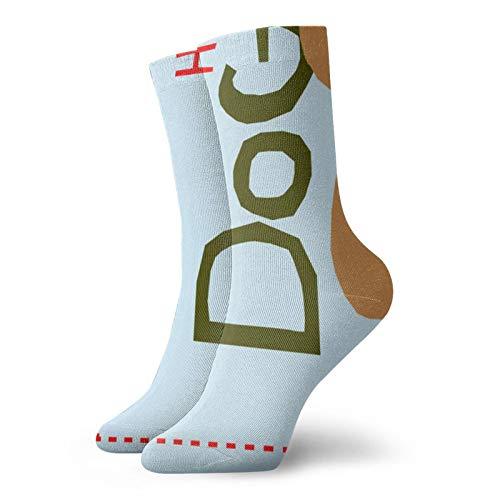 Calcetines de toalla para perros clásicos de ocio y deporte cortos de 30 cm/11.8 pulgadas adecuados para hombres y mujeres