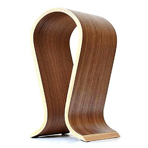HNGM Soporte Auriculares Auricular Soporte Cabeza montado de Lujo Abedul de Madera para Auriculares de Madera Escritorio de exhibición de Arco de Arco Innovador en Forma de U