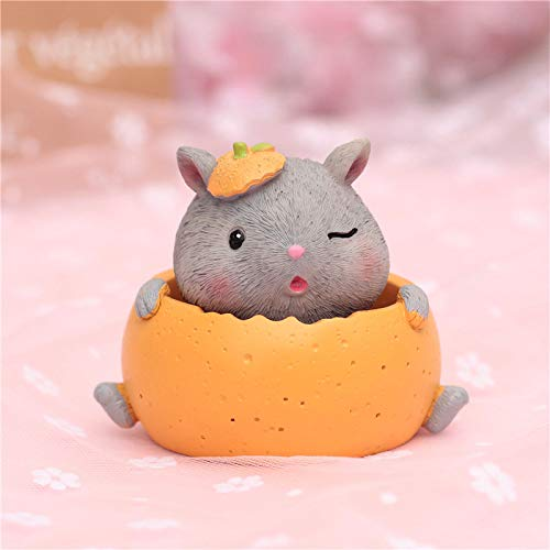 Süße Bohrmaschine Maus Feder schüttelt Kopf Hamster Auto Ornament slew Geschenk, um Klassenkameraden zu senden 8 * 8 * 10cm Grau
