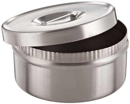 Chemglass CG-1100-D-03 Stainless Steel Oil Bath Dish, 200mm Diameter x 100mm Height