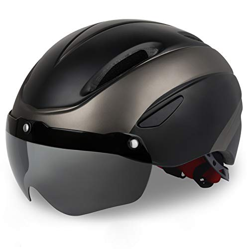 Bicycle Helmet, Ultra Lightweight, High Rigidity Cycling Helmet, Removable Magnetic Goggles, CPSC Certified Road Bike Helmet, Visor, Shield, Adjustable Men's and Women's Bike Helmet for MTB, Mountains, Road and Adults, Junior